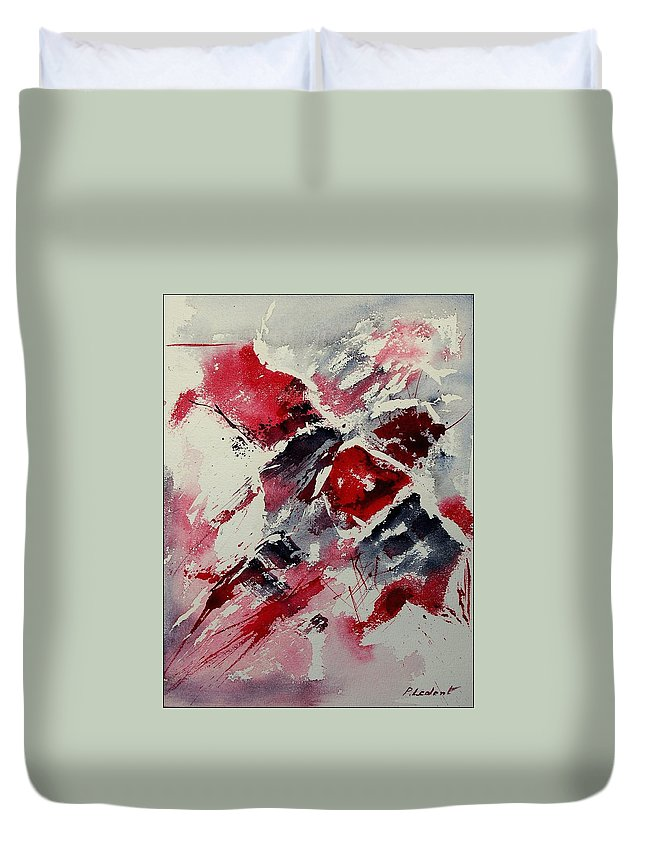 Abstract Duvet Cover featuring the painting Watercolor 050407 by Pol Ledent