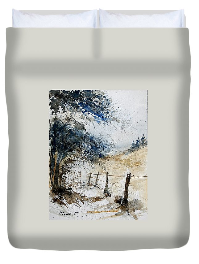 Winter Duvet Cover featuring the painting Watercolor 061106 by Pol Ledent