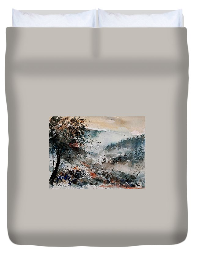 Winter Duvet Cover featuring the painting Watercolor 081108 by Pol Ledent