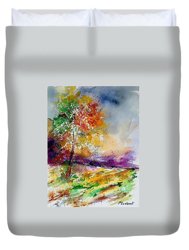 Spring Duvet Cover featuring the painting Watercolor 100507 by Pol Ledent