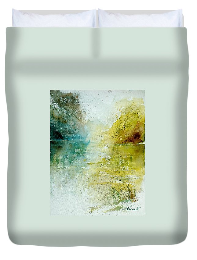 Water Duvet Cover featuring the painting Watercolor 111207 by Pol Ledent