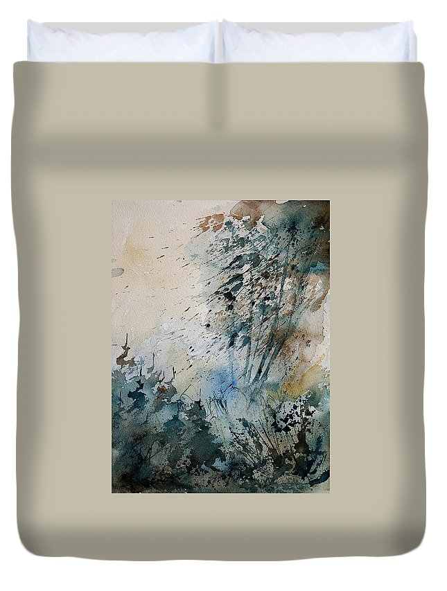 Tree Duvet Cover featuring the painting Watercolor 148708 by Pol Ledent