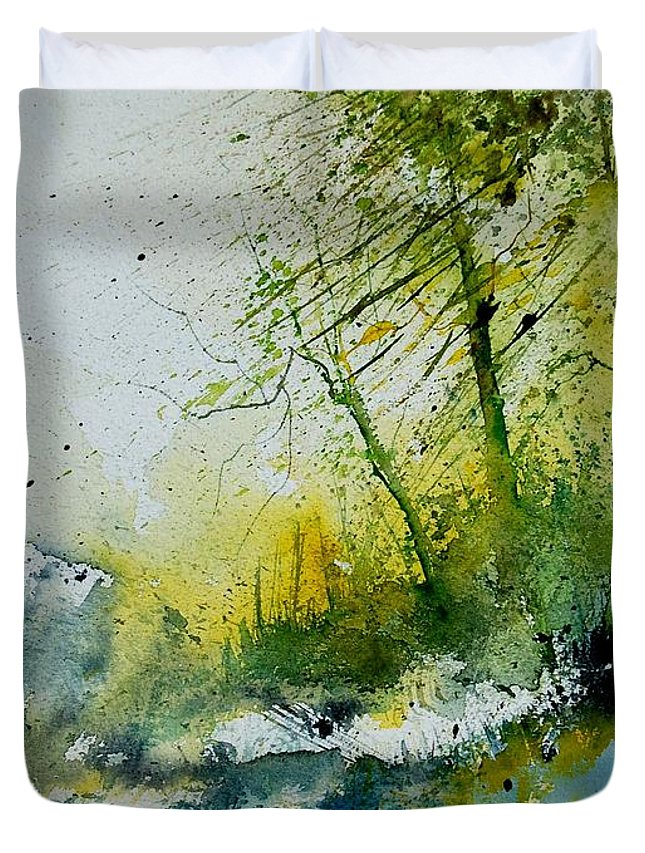River Duvet Cover featuring the painting Watercolor 181207 by Pol Ledent