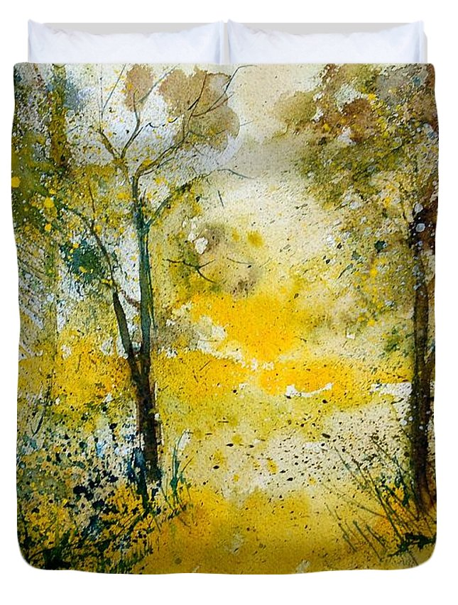 River Duvet Cover featuring the painting Watercolor 210108 by Pol Ledent