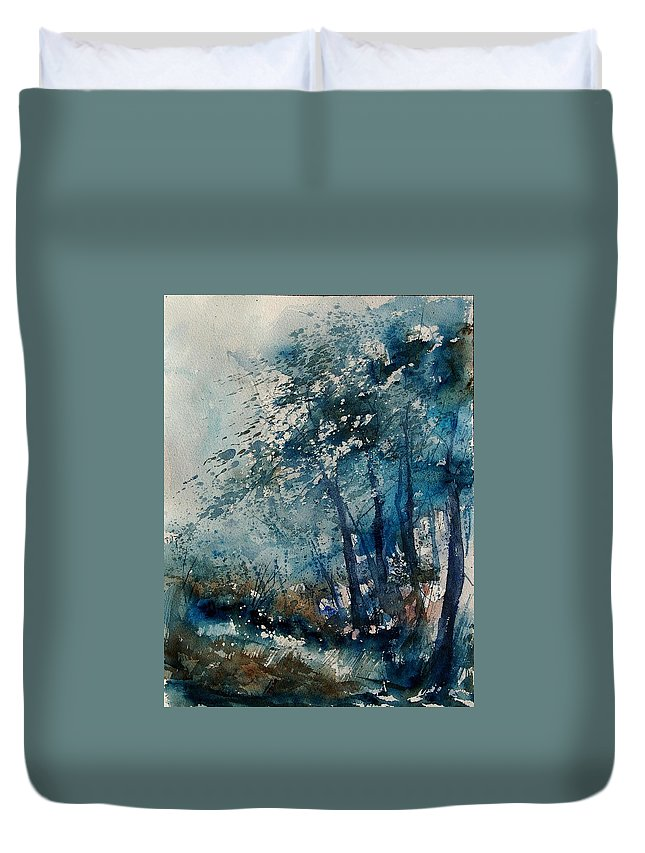 Winter Duvet Cover featuring the painting Watercolor 220907 by Pol Ledent