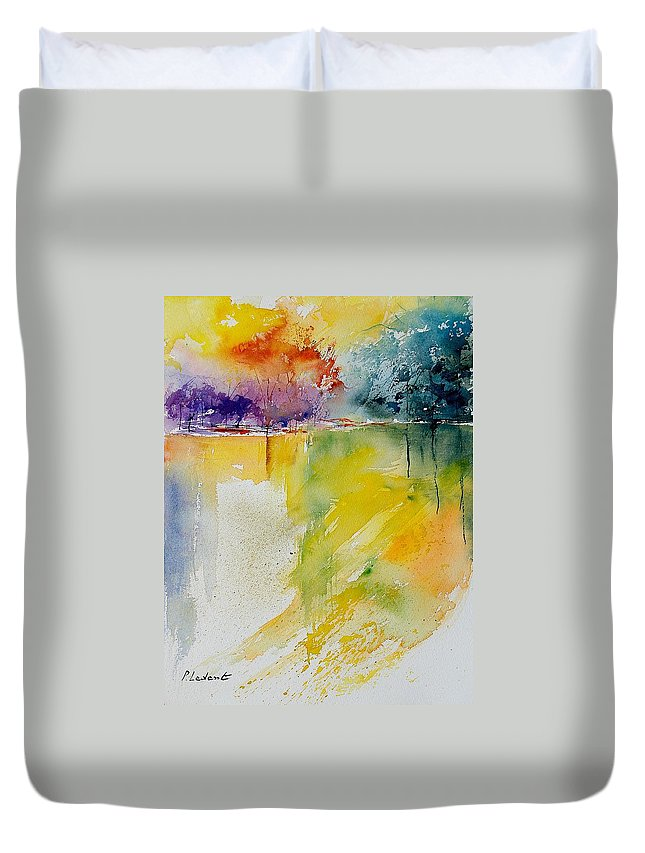 Water Duvet Cover featuring the painting Watercolor 241008 by Pol Ledent