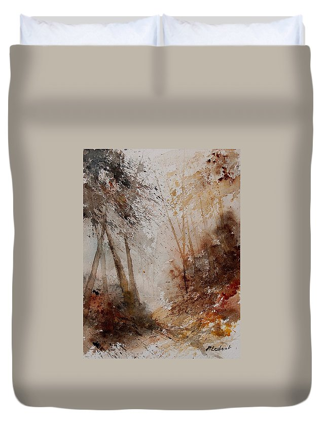Tree Duvet Cover featuring the painting Watercolor 250908 by Pol Ledent