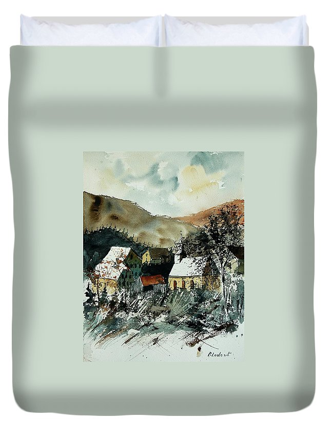 Winter Duvet Cover featuring the painting Watercolor 260107 by Pol Ledent