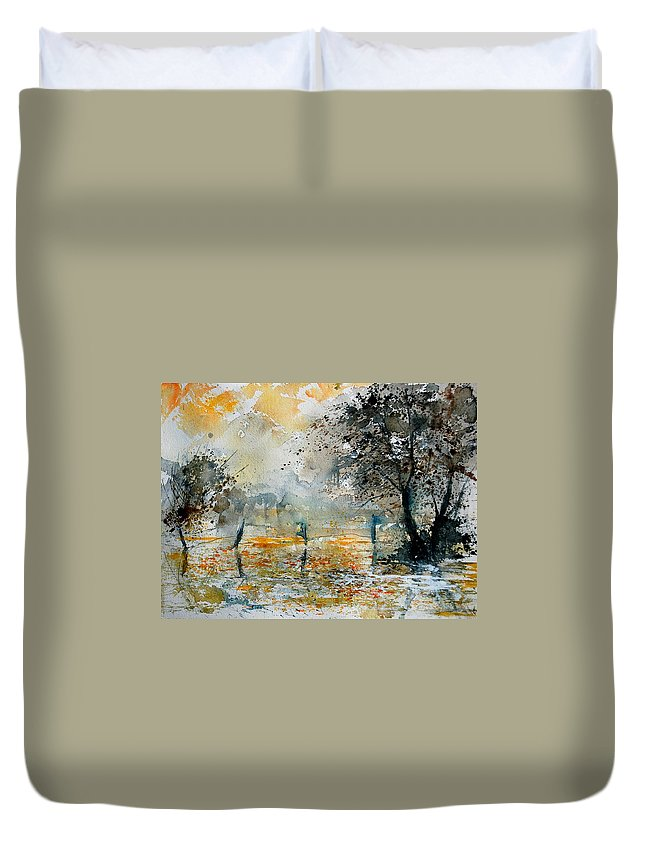 Water Duvet Cover featuring the painting Watercolor 261006 by Pol Ledent