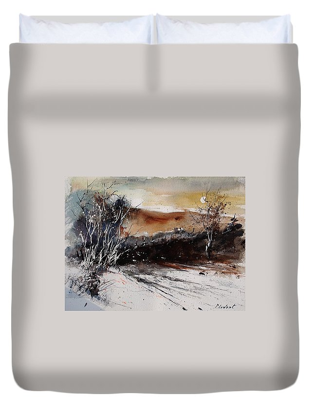 Tree Duvet Cover featuring the painting Watercolor 270908 by Pol Ledent