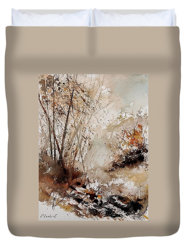 Tree Duvet Cover featuring the painting Watercolor 290808 by Pol Ledent
