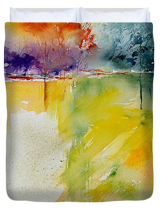 Pond Duvet Cover featuring the painting Watercolor 800142 by Pol Ledent