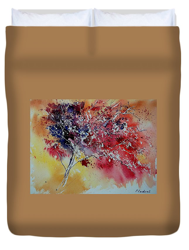 Tree Duvet Cover featuring the painting Watercolor 901181 by Pol Ledent