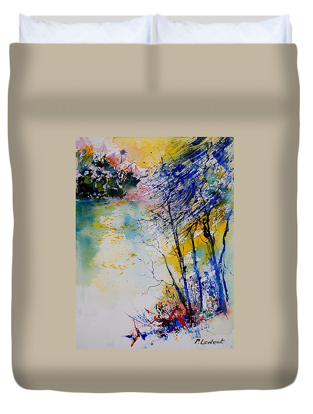 Water Duvet Cover featuring the painting Watercolor 902081 by Pol Ledent