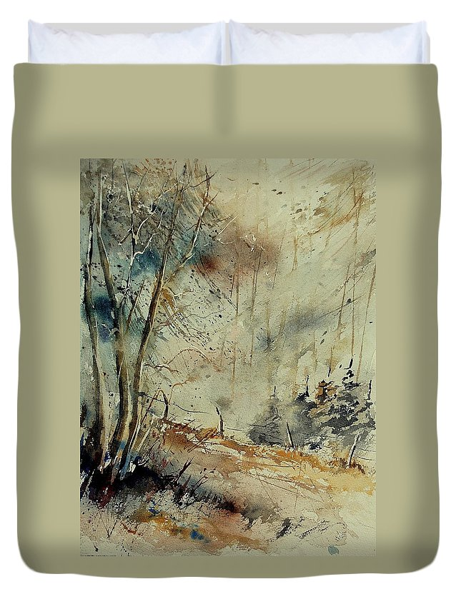 River Duvet Cover featuring the painting Watercolor 902190 by Pol Ledent