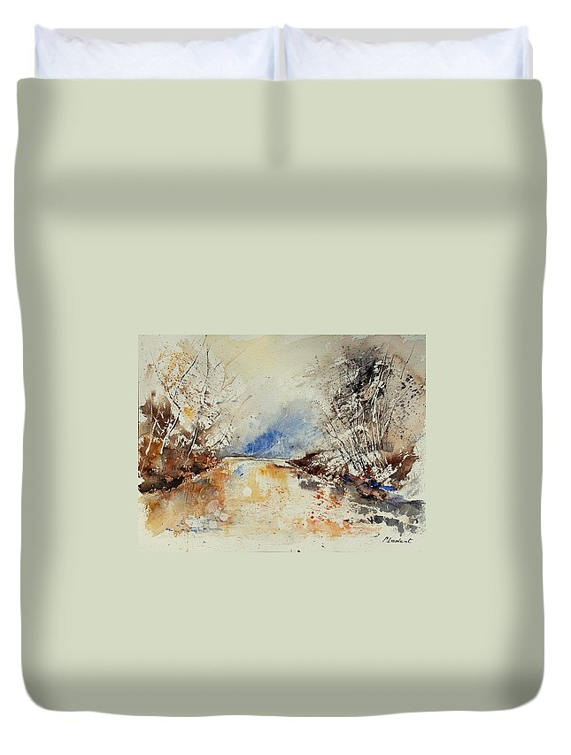 Water Duvet Cover featuring the painting Watercolor 903002 by Pol Ledent