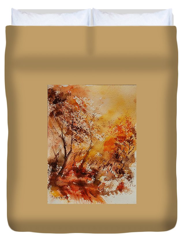 Tree Duvet Cover featuring the painting Watercolor 903071 by Pol Ledent