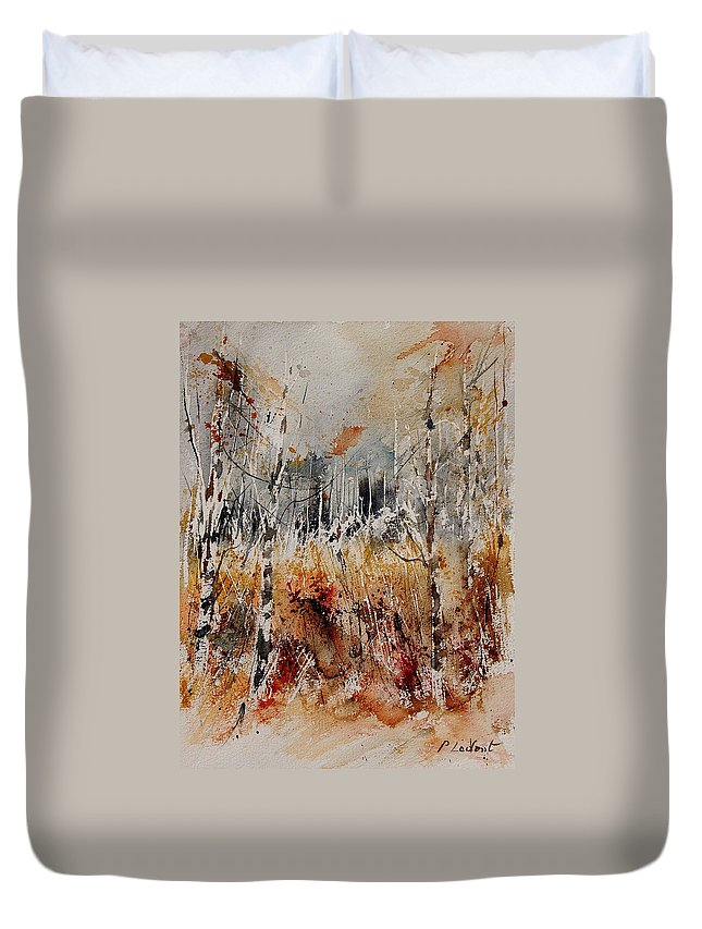 Tree Duvet Cover featuring the painting Watercolor 904012 by Pol Ledent