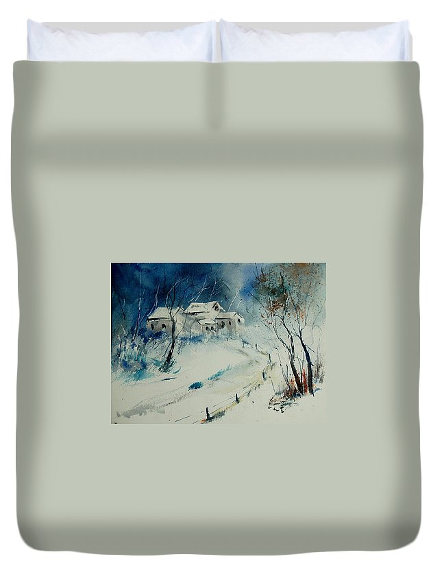 Winter Duvet Cover featuring the painting Watercolor 905001 by Pol Ledent