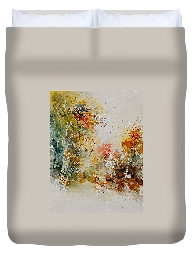 Tree Duvet Cover featuring the painting Watercolor 905022 by Pol Ledent