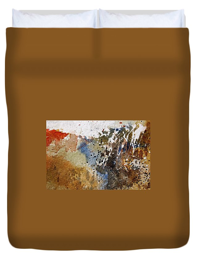 Abstract Duvet Cover featuring the painting Watercolor 9050223 by Pol Ledent