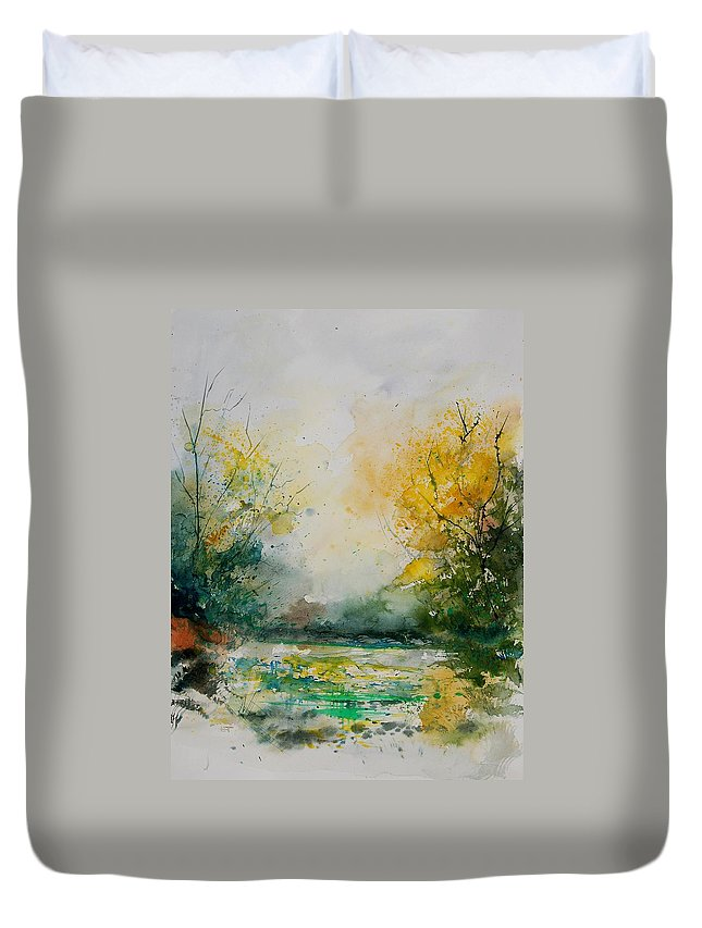 Water Duvet Cover featuring the painting Watercolor 905081 by Pol Ledent