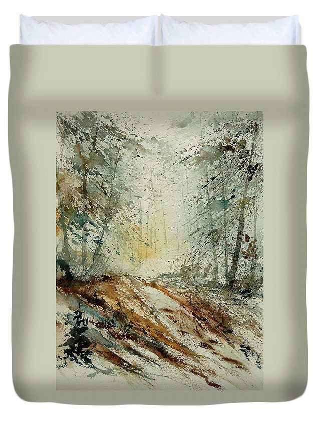 River Duvet Cover featuring the painting Watercolor 907013 by Pol Ledent