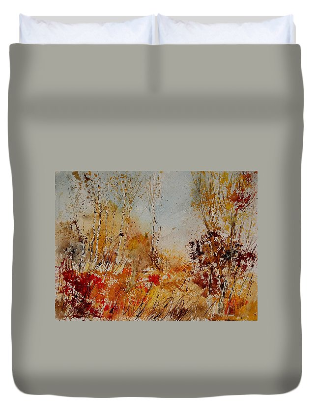 Tree Duvet Cover featuring the painting Watercolor 908031 by Pol Ledent