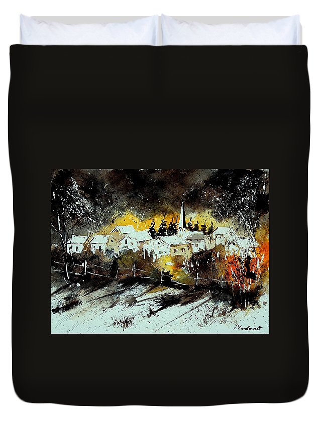 River Duvet Cover featuring the painting Watercolor 909072 by Pol Ledent