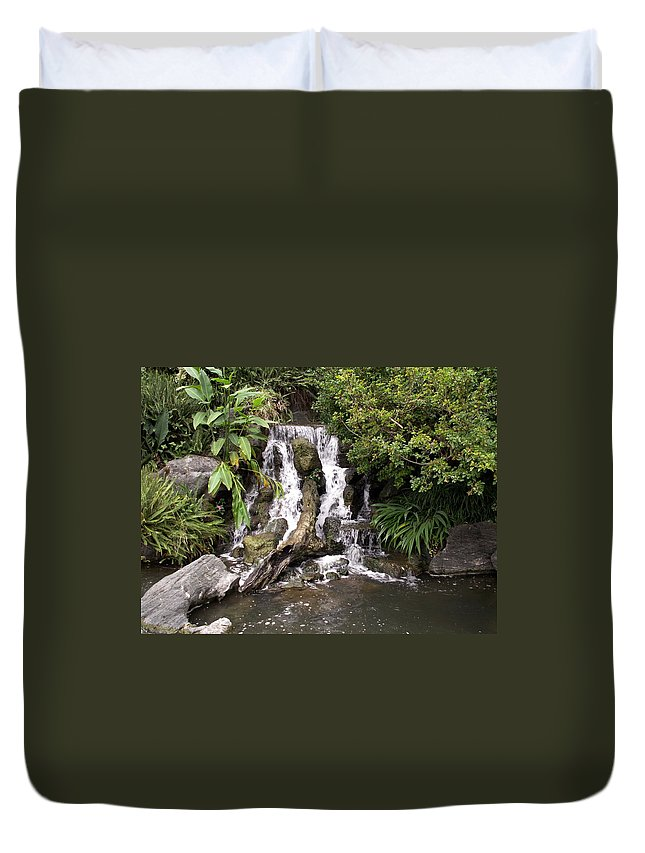 Water Duvet Cover featuring the photograph Waterfall by Amy Fose