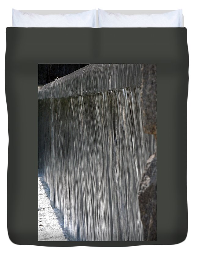 Water Duvet Cover featuring the photograph Waterfall by David Campbell