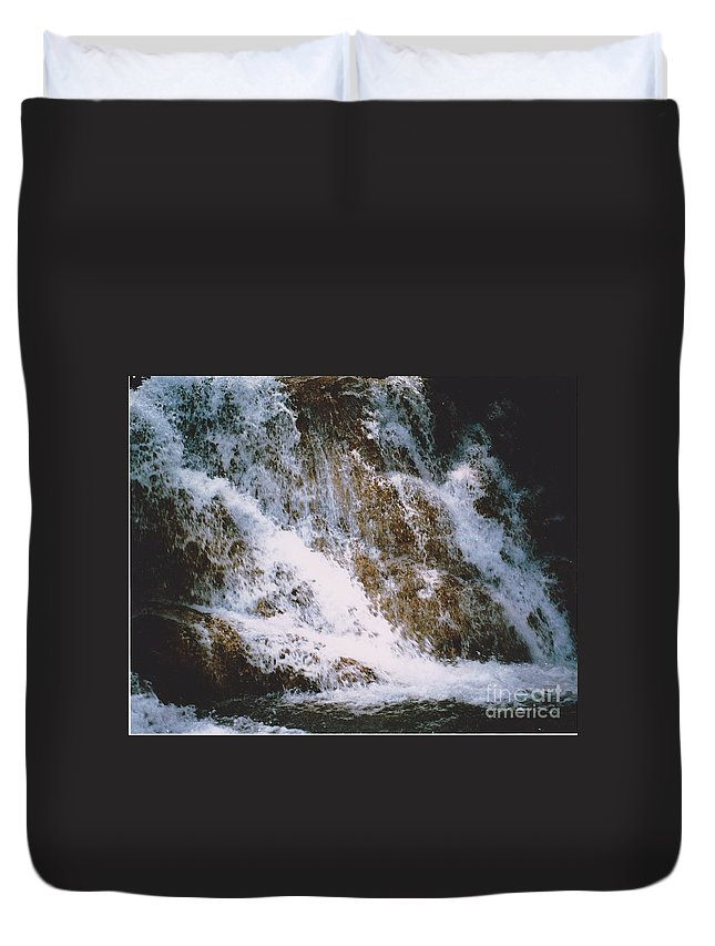 Water Duvet Cover featuring the photograph Waterfall by Michelle Powell