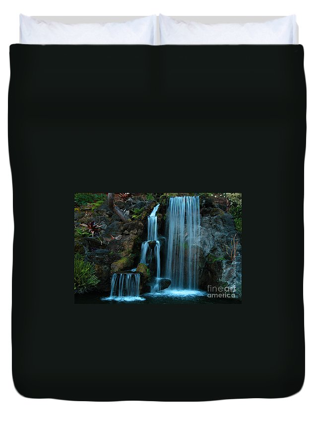 Clay Duvet Cover featuring the photograph Waterfalls by Clayton Bruster