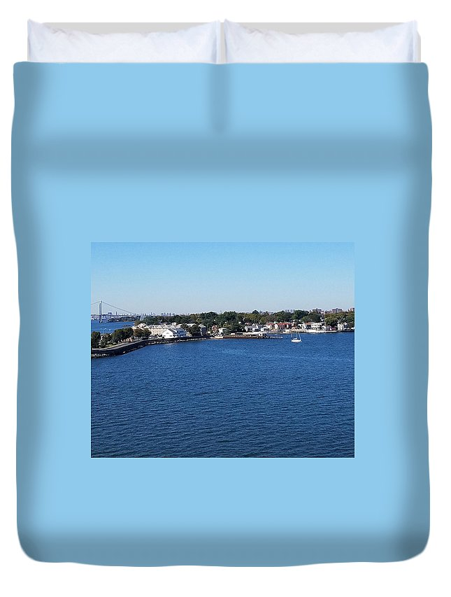 Water Duvet Cover featuring the photograph Waterfront by Theresa Radloff
