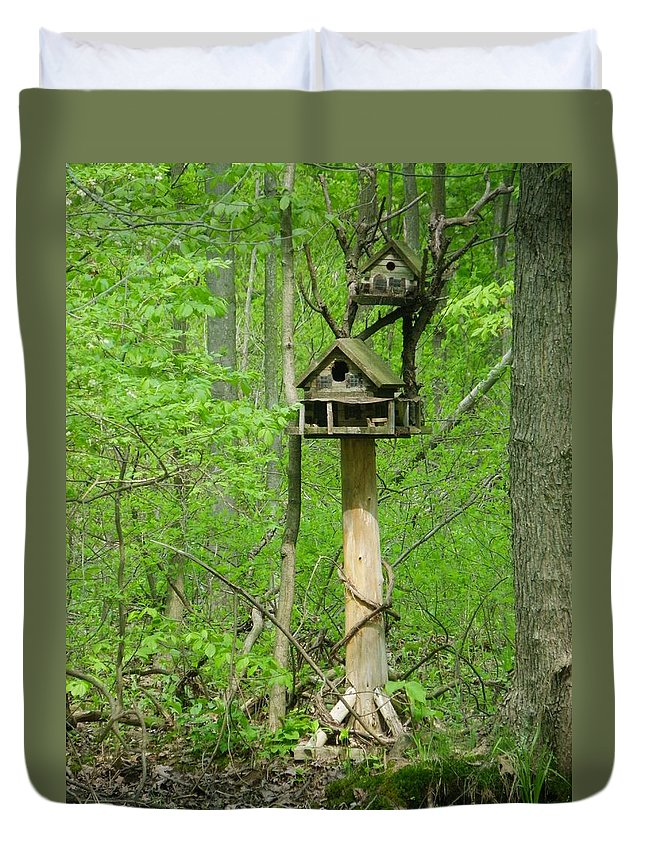 Heartland Forest Duvet Cover featuring the photograph Waterfront With A Granny Suite by Peggy King