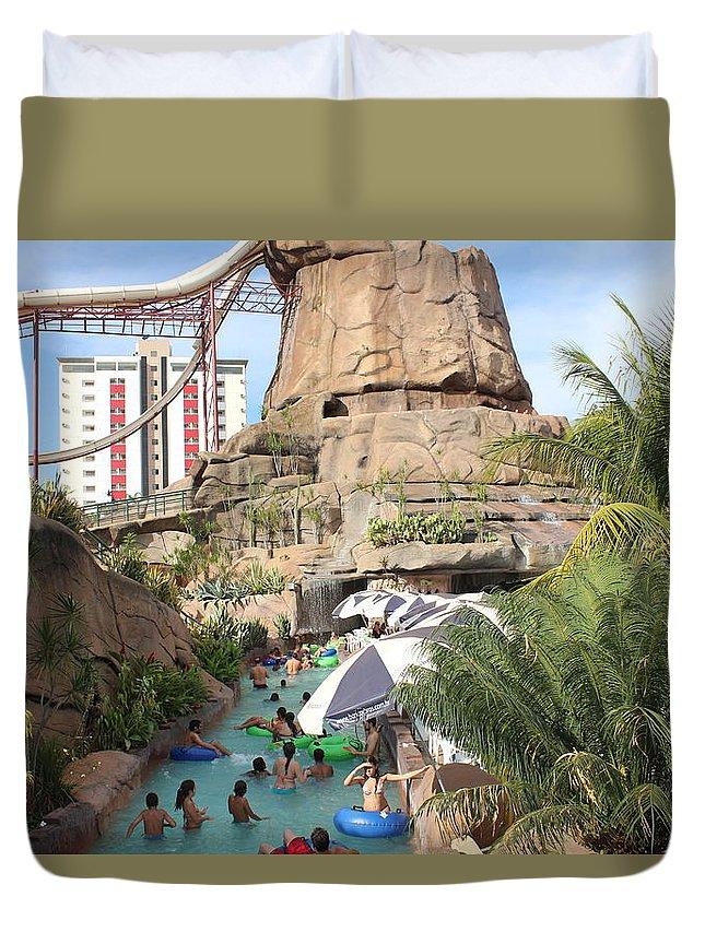 Duvet Cover featuring the photograph Waterpark by Adam Faidzul