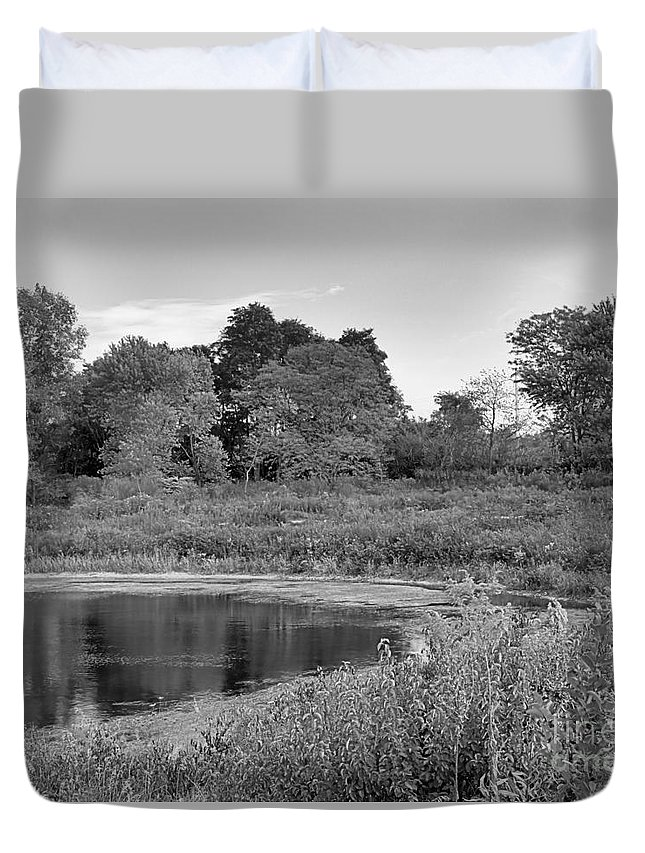 Landscape Duvet Cover featuring the photograph Waters Edge by Ronald Searl