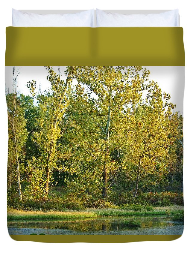 Waterscape Duvet Cover featuring the photograph Waterscape #44 by Ron Emery