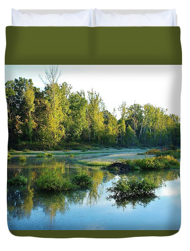Waterscape Duvet Cover featuring the photograph Waterscape #46 by Ron Emery