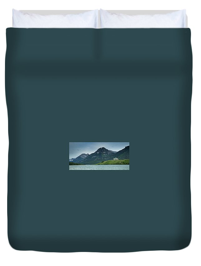 Duvet Cover featuring the photograph Waterton Lakes by Zach Rockvam
