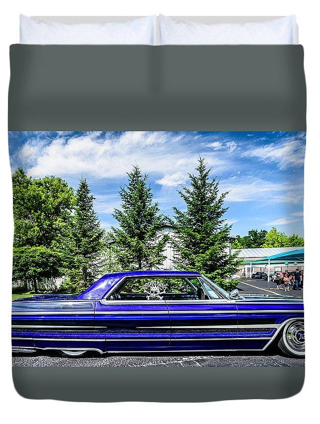 1965 Duvet Cover featuring the photograph Watson - 1965 Cadillac Sedan Deville by Randy Scherkenbach