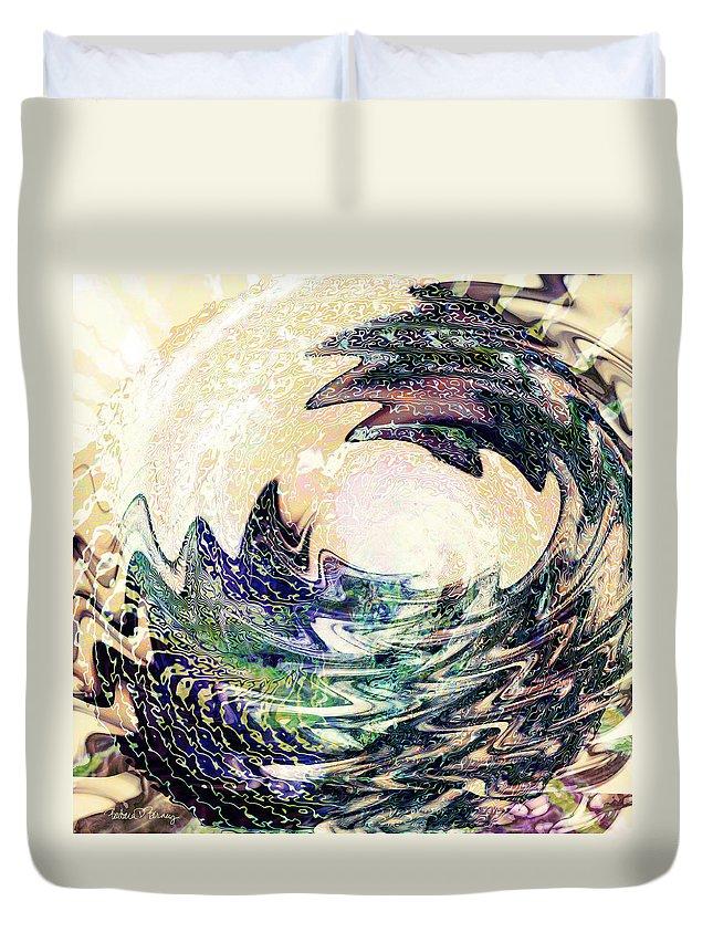 Ocean Duvet Cover featuring the digital art Wave by Barbara Berney