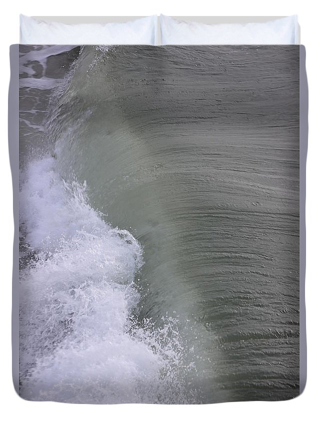 Wave Duvet Cover featuring the photograph Wave Break by Kenneth Christenson