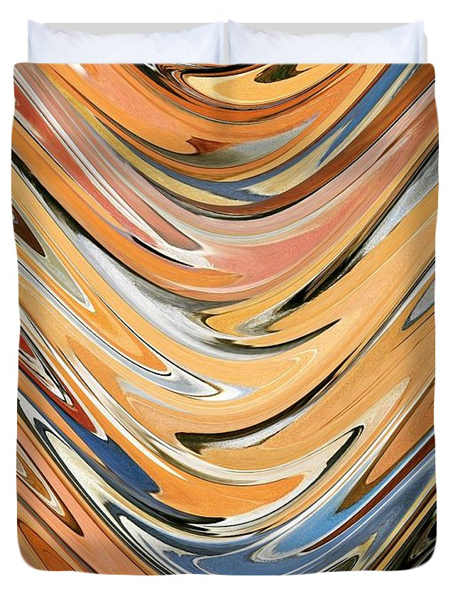 Wave Duvet Cover featuring the painting Wave By Rafi Talby by Rafi Talby