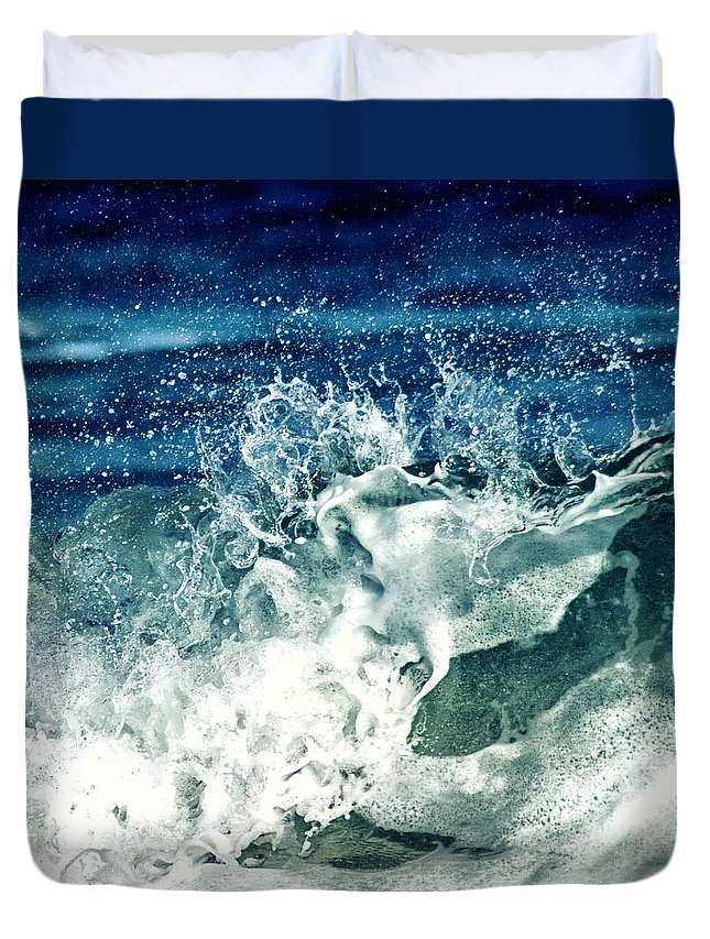 Water Duvet Cover featuring the photograph Wave2 by Stelios Kleanthous