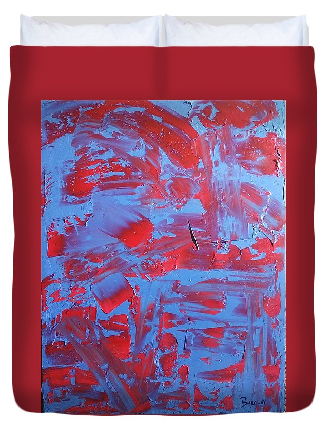 Painting Duvet Cover featuring the painting Waves by Barclay Matheson