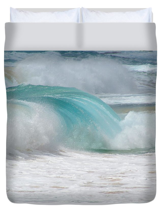 Hawaii Duvet Cover featuring the photograph Waves End by Kevin Smith