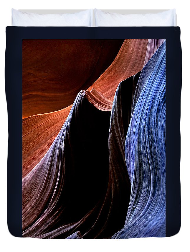 Sandstone Duvet Cover featuring the photograph Waves by Mike Dawson