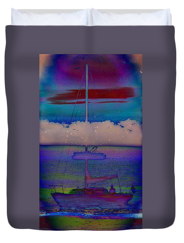 Waves Of Emotion Duvet Cover featuring the painting Waves Of Emotion by Darin Baker