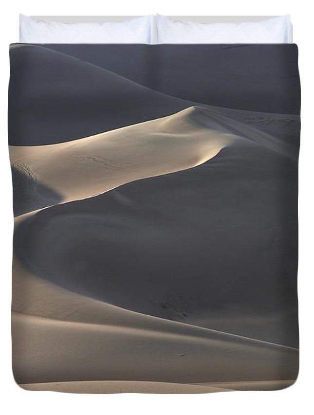 Great Sand Dunes Duvet Cover featuring the photograph Waves Of Shadow by Harold Stinnette